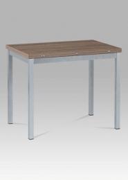 Jídelní stůl rozkládací, šedý lak + dub sonoma