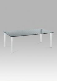 Konferenční stolek 120x60x41 cm, čiré sklo s potiskem / chrom