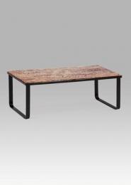 """Konferenční stolek 105x55x38 cm, sklo s potiskem """"VIN"""" / černá"""