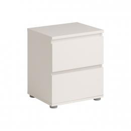 Noční stolek 2 zásuvky NUOVO bílý