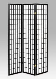 Paraván 3dílný - černá