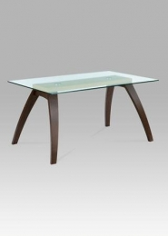 Jídelní stůl 150x90x75 cm, masiv buk/sklo