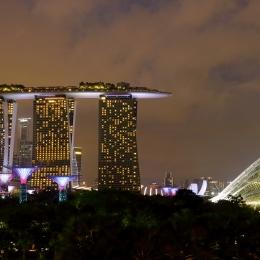 Obraz Noční Singapur 2