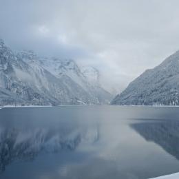 Obraz Zimní krajina u jezera