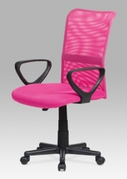 Kancelářská židle, mesh růžová, výškově nastavitelná