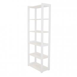 Knihovna STYL 6 polic bílý lak