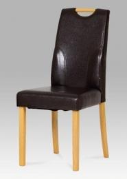 Jídelní židle buk / koženka hnědá