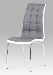 Jídelní židle látka šedá / chrom