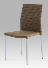 Židle alu / umělý ratan, stohovatelná