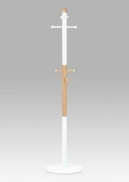 Věšák v. 173 cm, bílá / přírodní