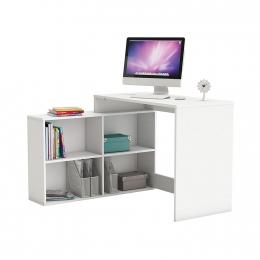 Rohový psací stůl CORNER bílý