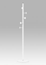 Věšák v. 179 cm, bílá kov