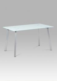 Jídelní stůl 140x80 sklo + kov