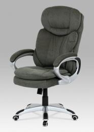 Kancelářská židle, šedá látka, stříbro-šedá konstrukce, houpací mechanismus