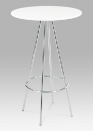 Barový stůl bílá / chrom, pr. 60 cm
