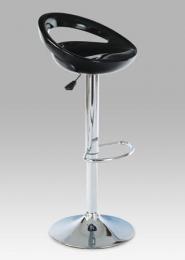 Barová židle, chrom / plast černý