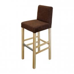Jídelní židle BARI buk/tmavě hnědá