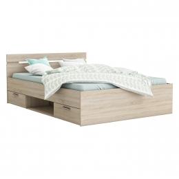Multifunkční postel 160x200 MICHIGAN dub
