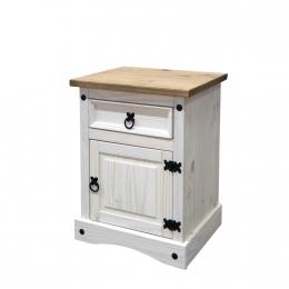 Noční stolek CORONA bílý vosk 16345B