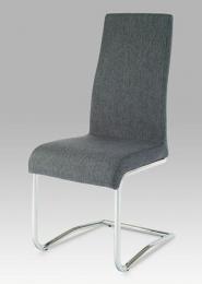 Jídelní židle chrom / látka šedá