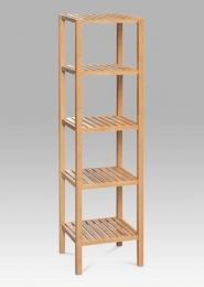 Regál, 5 polic, lakovaný bambus