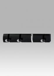 Nástěnný věšák - 4 háčky, černá
